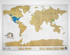 "This is so cool! A scratch-off world map so you can ""check off"" places you've traveled."