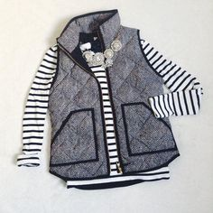 Never Look Back- Quilted Herringbone Excursion Vest