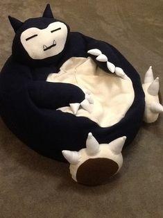 Snorlax full size bean bag chair. | 28 Geeky Pokémon Items On Etsy