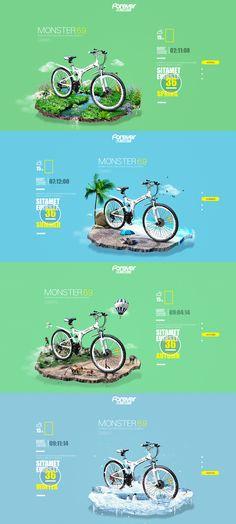 自行车互动 by 刘森源 - UE设计平台-网页设计,设计交流,界面设计,酷站欣赏