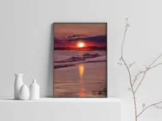 Excited to share the latest addition to my #etsy shop: Sunset Print, Sea Sunset Poster, Sunset Wall Art, Sunset Painting, Gift for Mom, Home Decor, Instant Digital Download, Downloadable Prints #art #digital #print #purple #landscapescenery #bedroom #clear #sunsetwallart #vertical Sunset Art, Home Printers, Printable Wall Art, Gifts For Mom, Digital Prints, Paintings, Etsy Shop, Sea, Bedroom