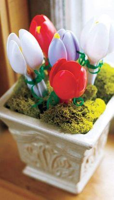 cucchiaini 9 vaso di tulipani