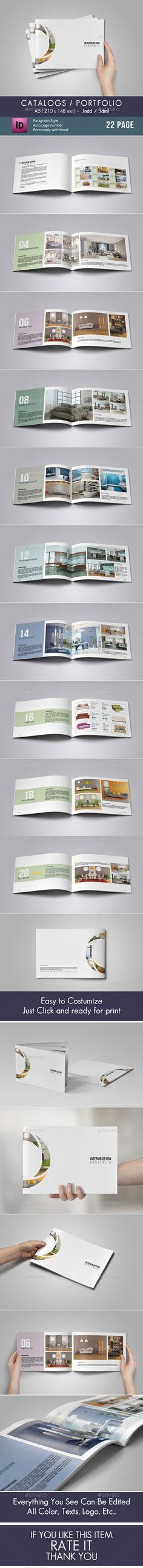 Catalogs / Portfolio Portfolio Brochure Template by adekfotografia. Indesign Templates, Flyer Design Templates, Brochure Template, Number Fonts, Catalog Design, Brochure Design, Editorial Design, Photo Book, Layout Design