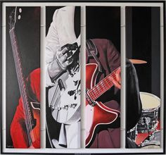 'The whole is more than the sum of its parts' Henk Huinen Quadriptych The Beatles - acryl on canvas 140 x 140 cm - private collection - 2007