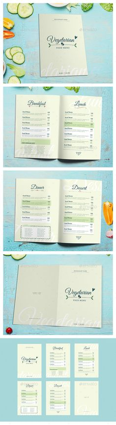 Vegetarian Food menu II - Food Menus Print Templates Download here : https://graphicriver.net/item/vegetarian-food-menu-ii/21417081?s_rank=130&ref=Al-fatih