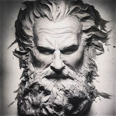 dan_sculptor в Instagram: «WiP Tormund GOT #tormund #got #daenerystargaryen #jonsnow #arya #aryastark #kristoferhivju» Sculpture Head, Sculptures, Full Sleeve Tattoo Design, Mythology Tattoos, Greek Statues, Arte Sketchbook, Greek Art, Ancient Art, Custom Art