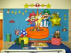 DIY decorations for Mario party