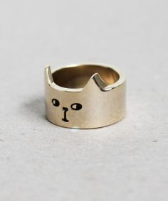Lazy Oaf Cat Ring Gold | Sumally