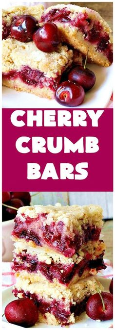 Cherry Crumb Bars & Can& Stay Out of the Kitchen & These mouthwatering bar-type are so spectacular. I guarantee you& be drooling after the first bite! Terrific for summer& & ] The post Cherry Crumb Bars appeared first on Appetizer Recipes. Cherry Desserts, Köstliche Desserts, Delicious Desserts, Dessert Recipes, Yummy Food, Bar Recipes, Desserts With Cherries, Cherry Recipes With Fresh Cherries, Shrimp Recipes