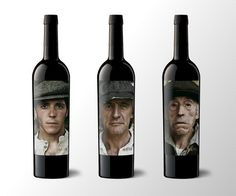 Matsu Wine Bottle - I want to start a wine bottle labeling company and start with labels like this!
