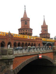 My favorite bridge in Berlin!  Oberbaumbruecke!