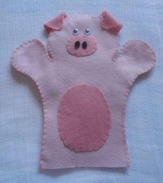 Fantoche feltro porco