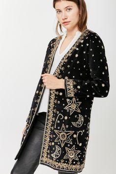 Boho Rock Morado Negro De Encaje De Terciopelo Suelto Estilo Kimono Abrigo Chaqueta Tops Hippie