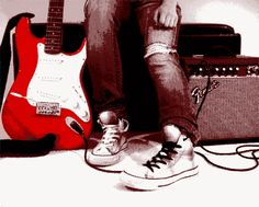 Guitar and converseeee holy moly steph is in  loveeeee