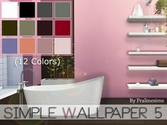 Sims 4 CC's - The Best: Simple Wallpaper by Pralinesims