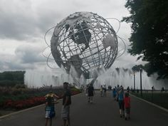 The Unisphere in Flushing Meadows.