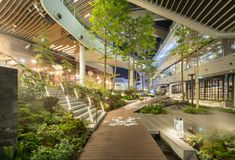 Mega Food Walk By Landscape Collaboration. Mega Food Walk By Landscape Collaboration. Landscape Architecture Design, Green Architecture, Landscape Plans, Plaza Design, Mall Design, Mega Shopping, Shopping Mall Interior, Public Space Design, Commercial Street