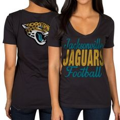 Women's Jacksonville Jaguars Majestic Black/Gray Fantasy League Long Sleeve T-Shirt