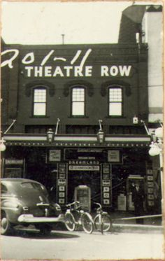"""Cartwrights Ranch House in Denton TX has a look back at its location's history on the downtown Square """"Theater Row""""..."""