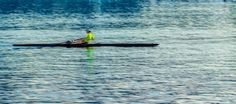 Lone rower on the bay by Hugh Mobley on 500px