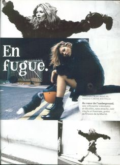 "Kate Moss by Craig McDean in ""En Fugue"", Vogue Paris August 2003"
