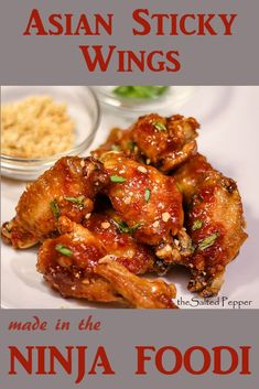 Ninja Foodi Asian Sticky Wings are the BEST wings I've ever tasted. Crispy, juicy, full of flavor and super EASY to make! via Salted Pepper Grilling Recipes, Cooking Recipes, Cooking Pork, Ninja Cooking System, Asian Recipes, Healthy Recipes, Ninja Recipes, Sausage Gravy, Pressure Cooker Recipes