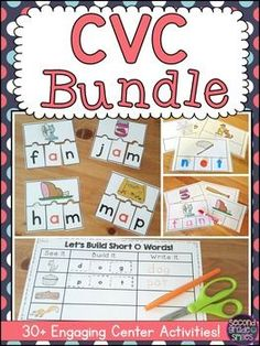 Looking to add some fun to your CVC word work or literacy center activities for kindergarten, first grade, or beginning second graders? This bundle is filled with colorful, hands-on centers my students love! They make managing Daily 5 so easy!