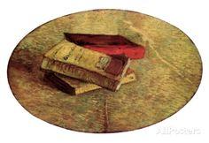 Vincent Van Gogh Still Life with Three Books Art Print Poster Poster