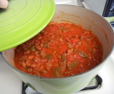 Shelly's Red and Green Pot of Chili - Quick Weekday Meals #MakeAhead #Dinner #weightloss