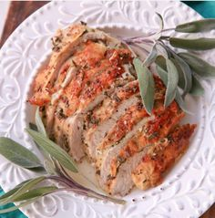 Herb crust turkey roast