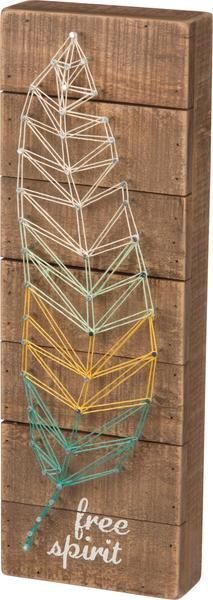 Retro and colorful, this string art sign brings the abstract art of string art to modern decorative wall décor Popularised as a decorative craft in the late 196