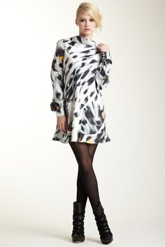 L.A.M.B. Snow Leopard Dress with Bell Sleeve by Fresh & Flirty: Easy Summer Dresses on @HauteLook
