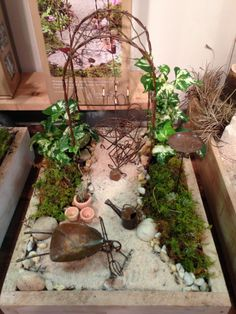A charming fairy garden at the Atlanta Market Atlanta Market, Fairy Gardens, Terrarium, Plants, Home Decor, Homemade Home Decor, Terrariums, Flora, Plant