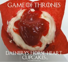 Game of Thrones Horse Heart cupcakes