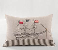Nautical Ship Pillow