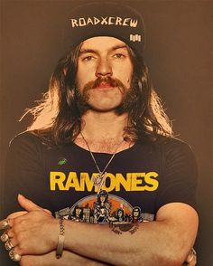 Lemmy. BORN TO RAISE HELL, and a good friend of the Ramones. He participated in their last show ever.   #Motorhead #Quiz #No Sleep