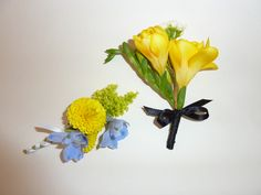 groomsmen navy blue suits with yellow flowers | cactus flower arrangements bouquets struck a cluster of wedding flower
