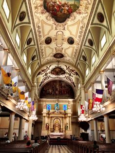 The St. Louis Cathedral is the oldest Catholic cathedral in continual use in the United States.