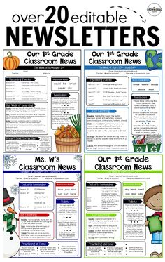 Editable Classroom Newsletters, perfect for communicating with families!