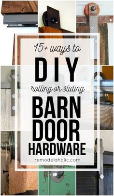 Budget-friendly and inexpensive methods for making your own rolling or sliding barn door hardware Remodelaholic .com budget friendly home decor - - Sliding Barn Door Hardware, Sliding Doors, Cheap Barn Door Hardware, Door Hinges, Door Latches, Rustic Hardware, Window Hardware, Barn Door Closet, Barn Door Pantry
