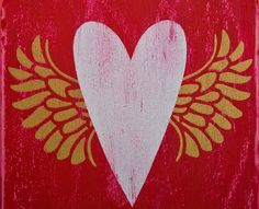 Create valentine hearts and hugs wooden plaques with these painting ideas (via plaidonline.com).