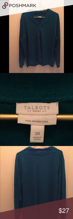 Spotted while shopping on Poshmark: Talbots Women's Merino Wool Cardigan! #poshmark #fashion #shopping #style #Talbots #Sweaters