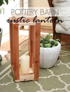 Easy DIY Pottery Barn Rustic Lantern | Creative Rustic DIY Home Decor Ideas by DIY Ready at http://diyready.com/diy-home-decor-under-an-hour/