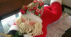 Blog voltado à artesanato em geral. Good Foods For Diabetics, Christmas Decorations, Holiday Decor, Christmas Stockings, Nice Dresses, Santa, Diy Crafts, Crafty, Home Decor