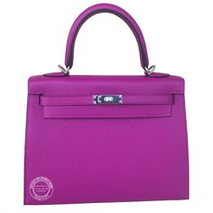 Rose Pourpre Kelly in Epsom Leather with Palladium Hardware Hermes Bags, Hermes Handbags, Hermes Birkin, Hermes Kelly, Lilac, Purple, Blue, Epsom, Palladium