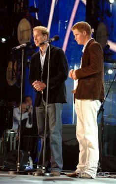 Prince William and Prince Harry The Concert for Diana at Wembley Stadium