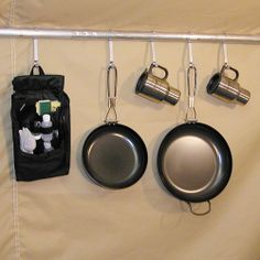 If there's an internal frame, you can hang some lightweight items from it. Wall Tent, Tent Stakes, Camping Hacks, Camping Stuff, Tent Accessories, Outdoor Camping, The Great Outdoors, Stove, Cooking