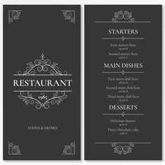 Discover thousands of copyright-free vectors. Graphic resources for personal and commercial use. Thousands of new files uploaded daily. Layout Banner, Menu Layout, Restaurant Menu Design, Restaurant Branding, Restaurants For Birthdays, Bistro Food, Corporate Brochure Design, Tasty Chocolate Cake, Cafe Menu