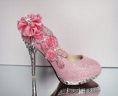 rhinestone shoes luxury  wedding shoes by OliBlingBlingShoes, $109.99