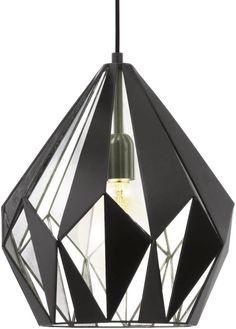 bol.com | EGLO Vintage - Hanglamp - 1 Lichts - Zwart, Zilver | Wonen